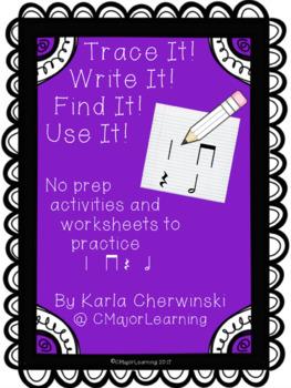 Trace It! Write It! Find It! Use It! No Prep Worksheets 3 Set Bundle