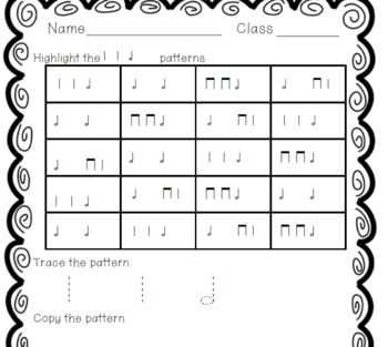 Trace It! Write It! Find It! Use It! No Prep Worksheets to Practice half note