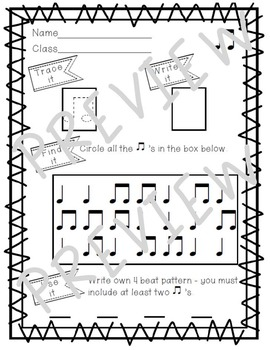 Trace It! Write It! Find It! Use It! No Prep Worksheets to Practice ta and ti-ti