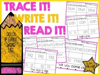 Trace It! Write It! Read It! Sight Word Intervention *1st Grade*