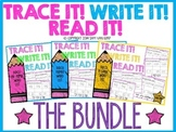Trace It! Write It! Read It! Sight Word Intervention *THE BUNDLE*