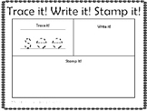 Trace It! Write It! Stamp It! Kindergarten Sight Word Freebie Sample Pack