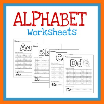 Tracing Letters A-z Worksheets & Teaching Resources | TpT