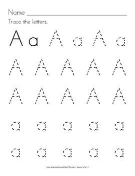 Trace Letters: Manuscript Handwriting Practice