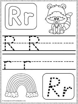 Trace Letters Worksheets (NO PREP)