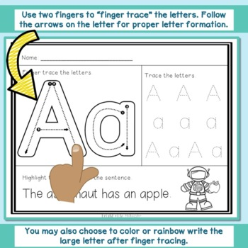 Trace Letters and Find in Sentences-  Letter Formation and Letter Recognition