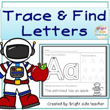 Trace Letters and Find in Sentences-  Letter Formation and