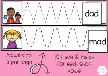 CVC words TRACE & MATCH