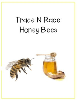 Trace N Race, Fine Motor: Honey Bees