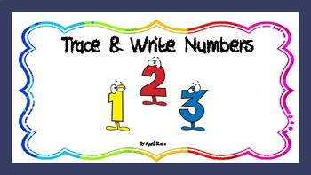 Trace & Write Numbers 0-9