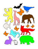 Trace Outline Animals Life-Skills Common-Core Colors Fine Motor Skills Printable