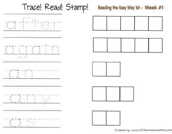Trace! Read! Stamp! 1st Grade Dolch Sight Words Practice
