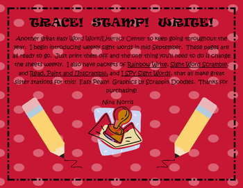 Trace! Read! Stamp! and Write! 100 word pack