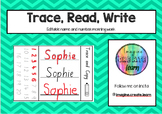 Trace, Read and Write - Editable Morning Work - Pre Primary