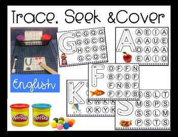 Trace, Seek & Cover the Letter/ English