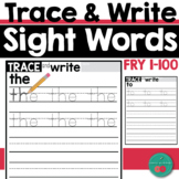 Trace Sight Words Worksheets Fry Sight Words 1-100 First 1