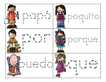 Trace Spanish Sight Words - 120 Flashcards