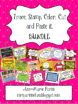 Trace Stamp Color Cut and Paste it, BUNDLE