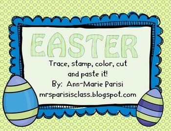 Trace Stamp Color Cut and Paste it, Easter theme FREEBIE