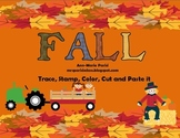 Trace, Stamp, Color, Cut and Paste it, Fall