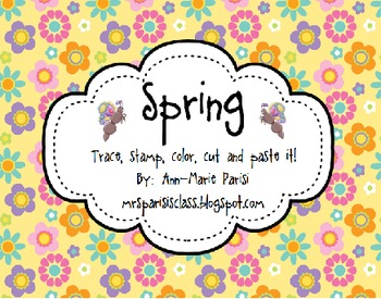 Trace Stamp Color Cut and Paste it, Spring Theme