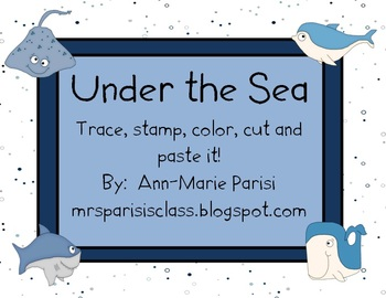 Trace Stamp Color Cut and Paste it, Under the Sea theme