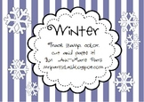 Trace Stamp Color Cut and Paste it, Winter theme