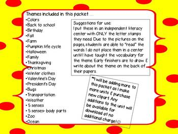 Trace, Stamp & Write~ A literacy center for ALL year!!