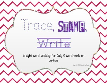 Trace, Stamp, Write Word Work Center
