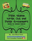 Trace Stamp Write it Numbers, Back to school theme