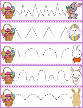 Trace The Pattern: Bunnies & Baskets