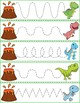 Trace The Pattern: Dinosaurs Running From Volcanoes