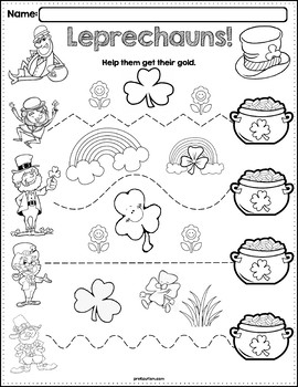 trace the pattern leprechaun worksheets by prekautism tpt. Black Bedroom Furniture Sets. Home Design Ideas