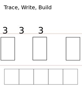 Trace, Write, Build Numbers 1-10