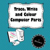 Trace, Write & Colour Computer Parts