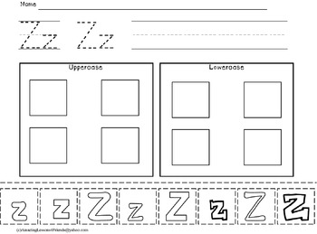 Trace Write Cut and Paste Worksheets (NO PREP)