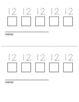 Trace & Write Daily Numbers 11-19 Sign In Sheets