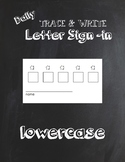 Trace & Write Daily Lowercase Letter Sign In Sheets