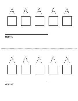 Trace & Write Daily Uppercase Letter Sign In Sheets