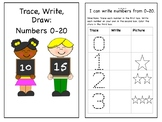 Trace Write Draw Numbers 0-20