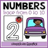 Trace&Write NUMBERS Flash Cards-Trazar&escribir números cartelones Eng&Spanish
