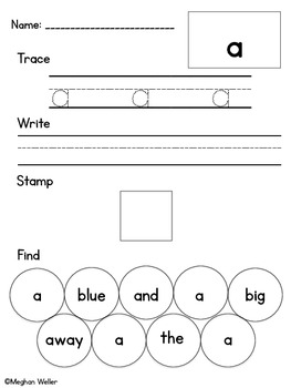 Trace, Write, Stamp, & Find Pre-Primer Dolch Sight Words