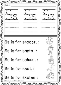 Trace Write and Read Worksheets (NO PREP)