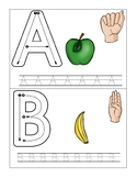 Trace, Write, and Sign ABC Flip Book (Letters Only)