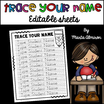 Trace Your Name - EDITABLE {Monthly Freebie for September}