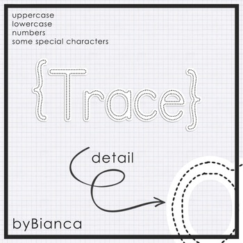 Trace {alphabet} - commercial use