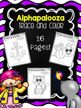 Trace and Color Alphabet Pictures