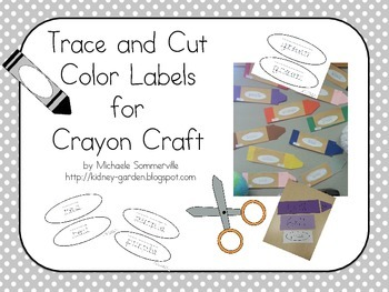 Trace and Cut Color Labels
