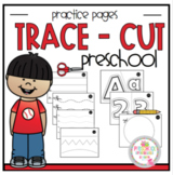 Trace and Cut Practice Worksheets (Basic no pictures)