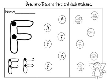 Trace and Daub Alphabet